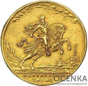Золотая монета 5 Дукатов Германия - 5