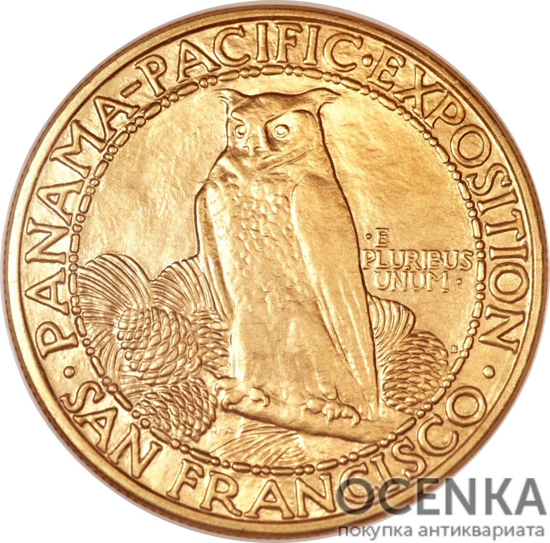 Золотая монета 50 Dollars (50 долларов) США