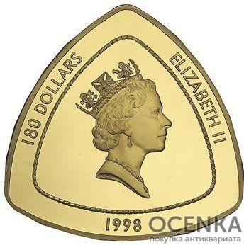 Золотая монета 180 долларов Бермудских островов