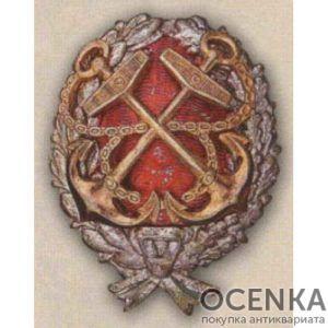 Нагрудный знак «Красного командира РККФ». 1917 - 18 гг.