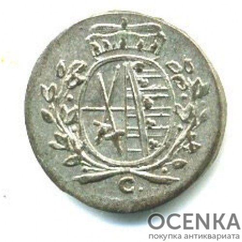 Серебряная монета 1 Пфенниг (1 Pfennig) Германия - 1