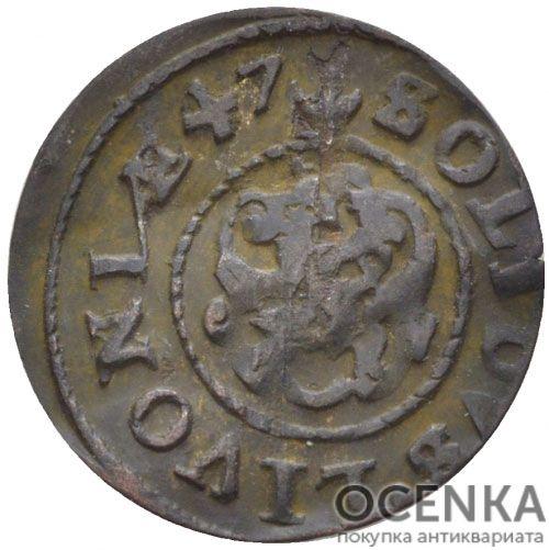 Серебряная монета Солид Средневековой Литвы - 4