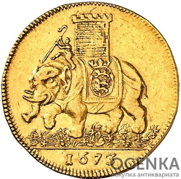 Золотая монета 2 Дуката (2 Ducats, Dukater) Дания - 8