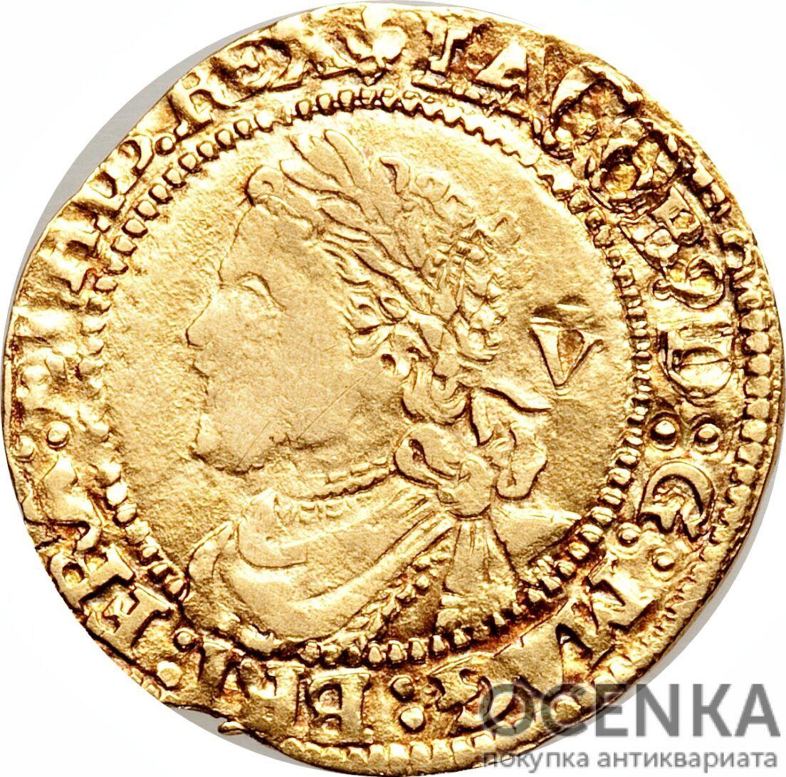 Золотая монета ¼ Laurel (1/4 лореля) Великобритания - 2