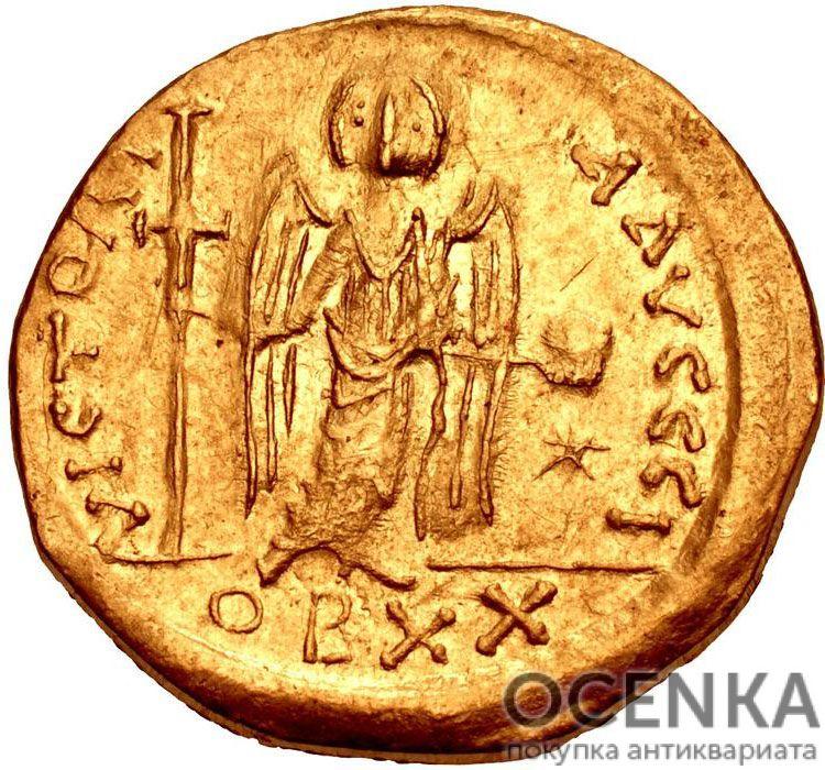 Золотой солид Византии, Флавий Пётр Савватий Юстиниан I, 527-565 год - 1