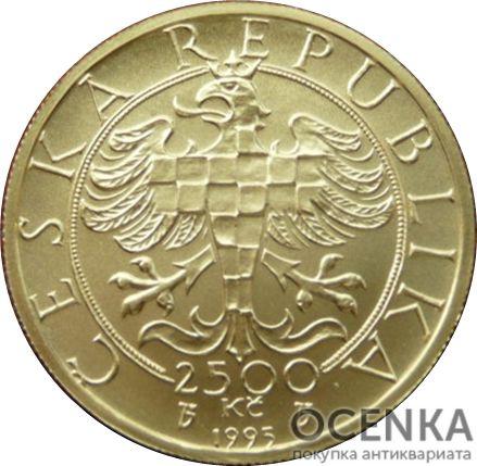 Золотая монета 2500 Крон (2500 Korun) Чехия - 2