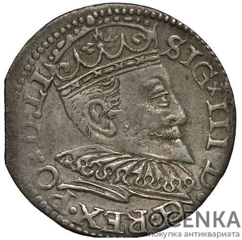 Серебряная монета Трояк (3 гроша) Средневековой Литвы - 1