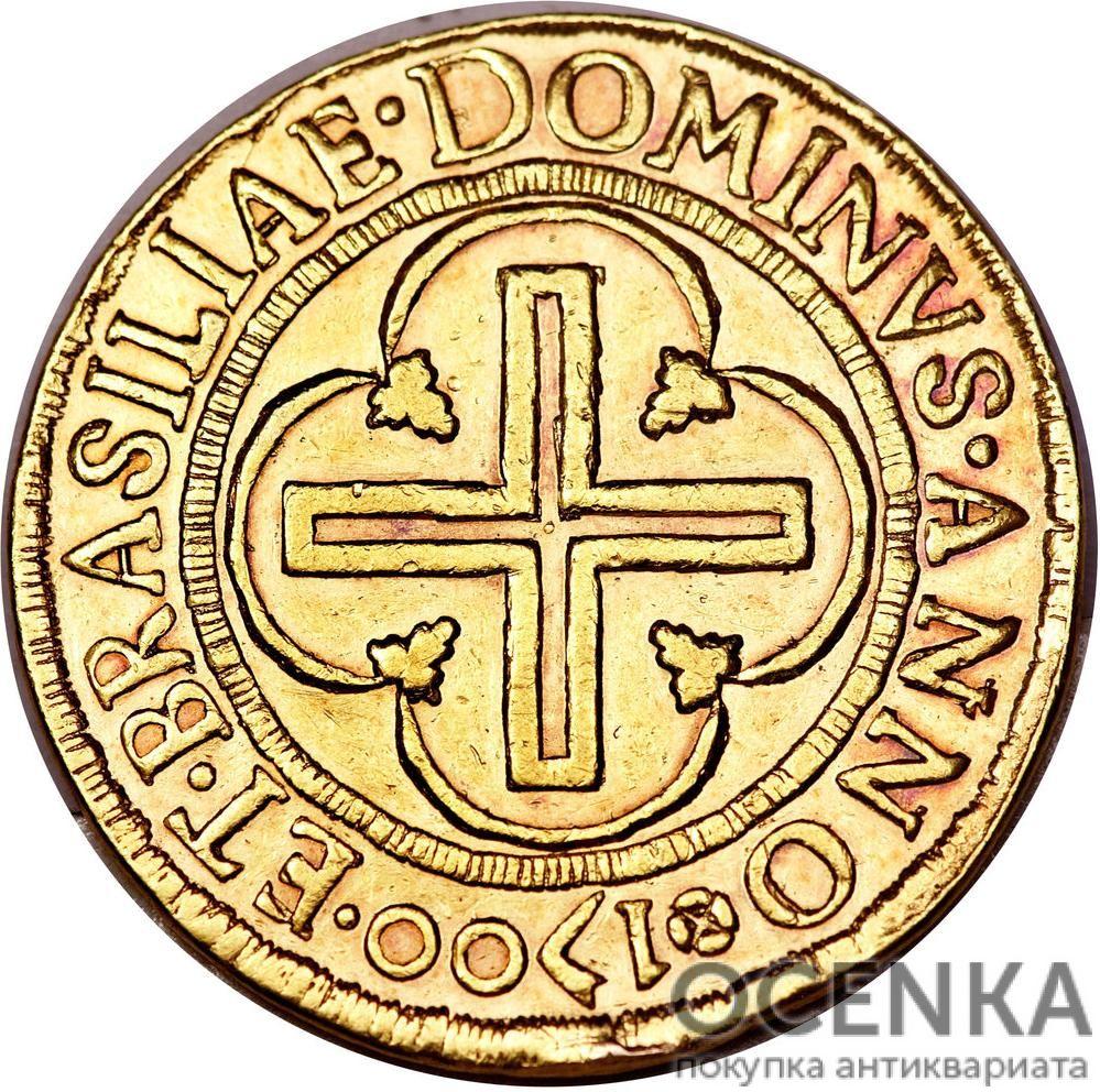 Золотая монета 4000 рейсов (4000 Réis) Бразилия - 1