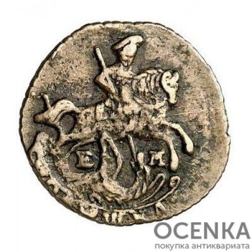 Медная монета Полушка Екатерины 2 - 4