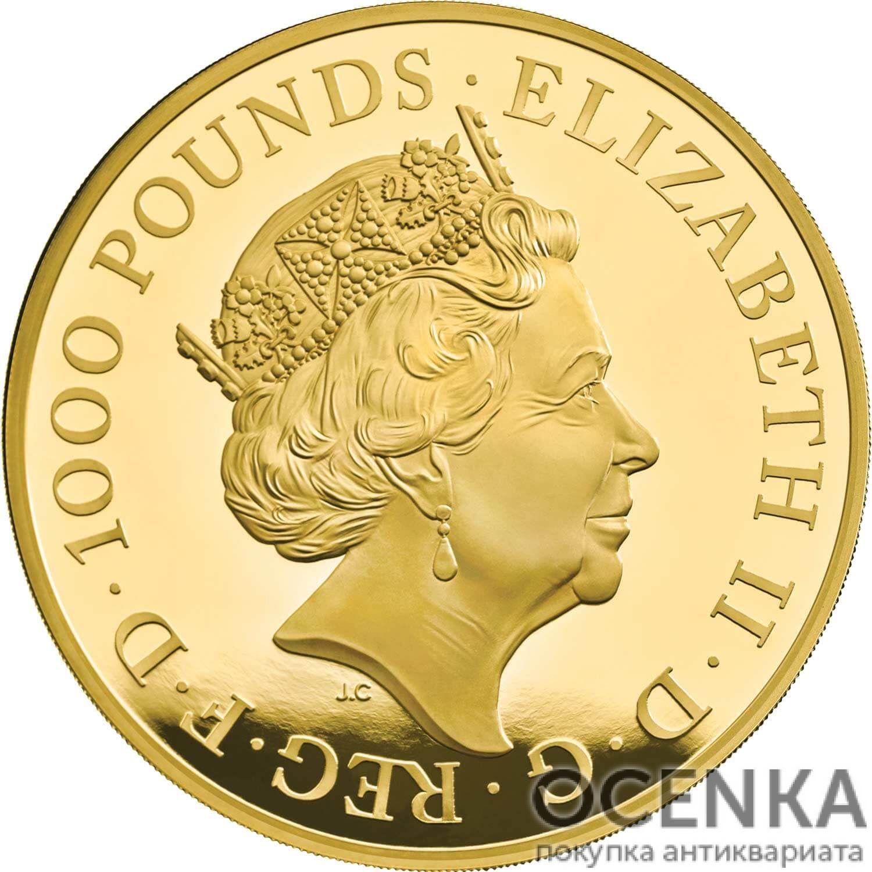 Золотая монета 1000 Pounds (1000 фунтов) Великобритания - 3