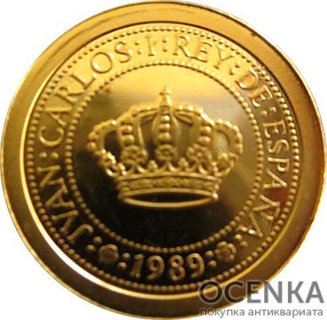 Золотая монета 5000 Песет (5000 Pesetas) Испания - 1