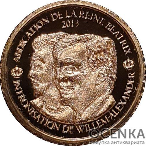 Золотая монета 1500 Франков Бенина - 3
