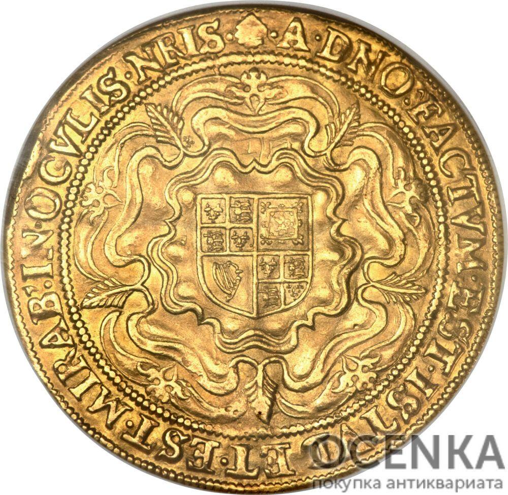 Золотая монета 1 Rose-ryal (розенобль) Великобритания - 1