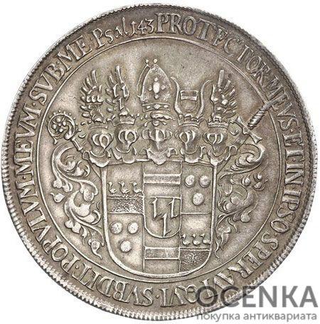 Серебряная монета Талер Средневековой Польши - 4