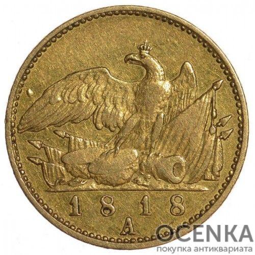 Золотая монета 1 Фридрихсдор Германия - 1
