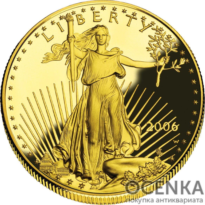 Золотая монета 50 Dollars (50 долларов) США - 3