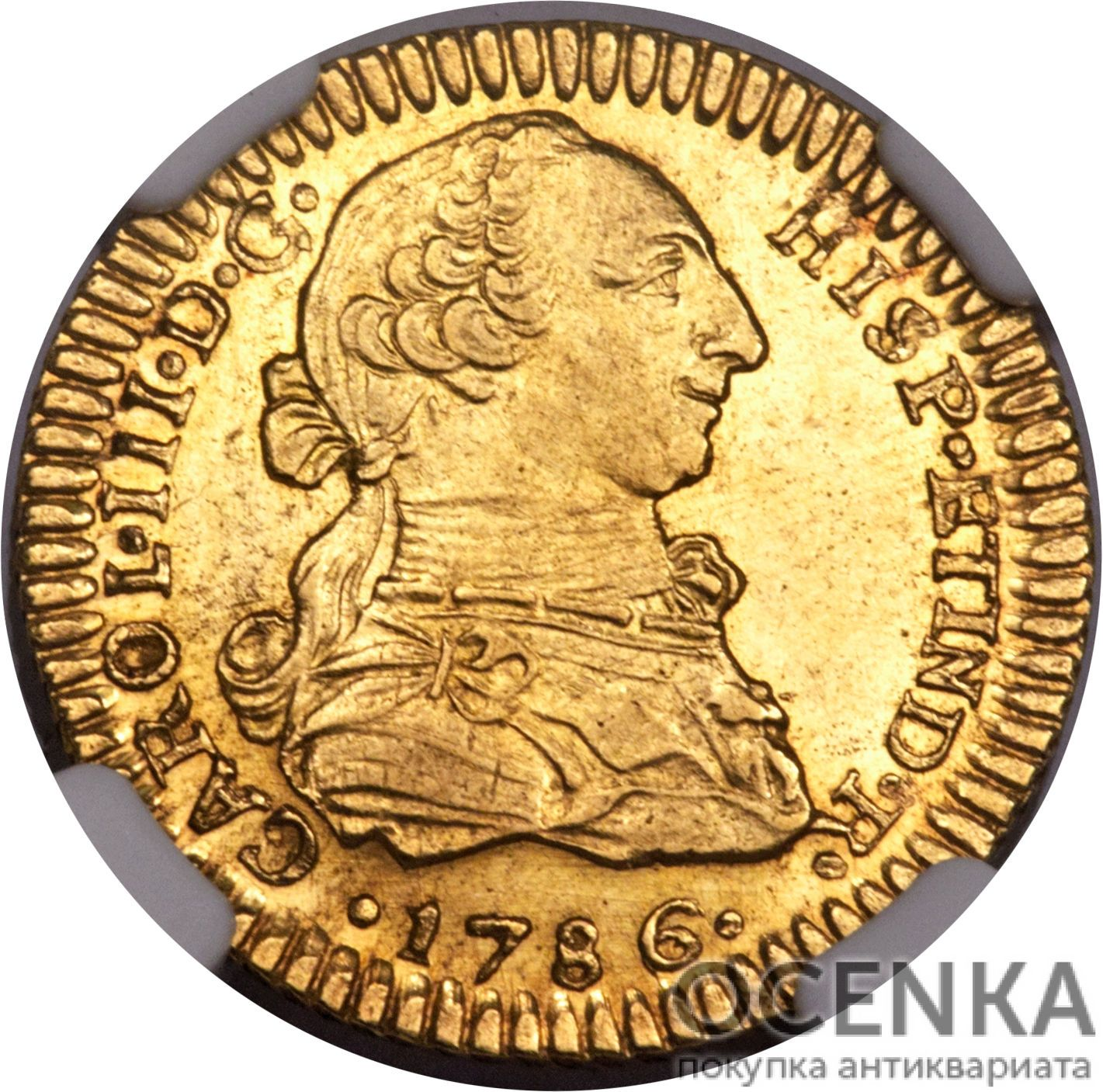 Золотая монета 1 Эскудо (1 Escudo) Чили - 1