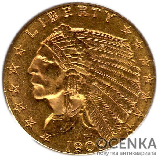 Золотая монета 2½ Dollars (2,5 доллара) США - 7