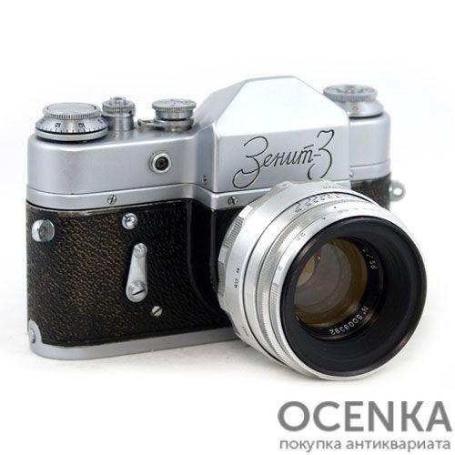 Фотоаппарат Зенит-3 КМЗ 1960-1962 год