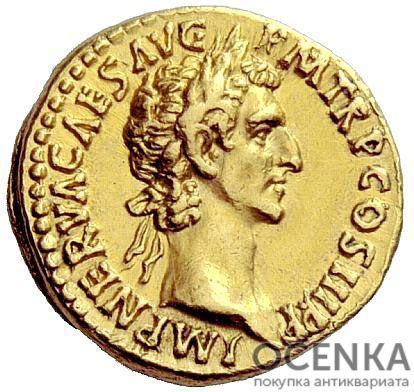 Золотой ауреус, Марк Кокцей Нерва Цезарь Август, 96-98 год