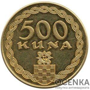Золотая монета 500 Кун (500 Kuna) Хорватия