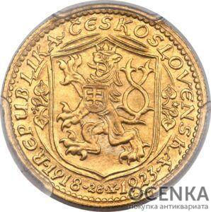 Золотая монета 1 Дукат (1 Dukát) Чехословакия