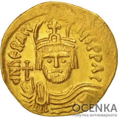 Золотой солид Византии, Флавий Ираклий Август I, 610-641 год