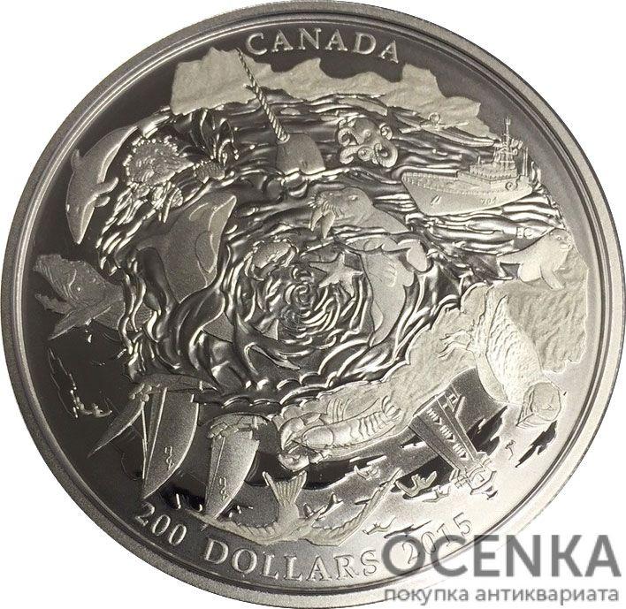 Серебряная монета 200 Долларов Канады - 2
