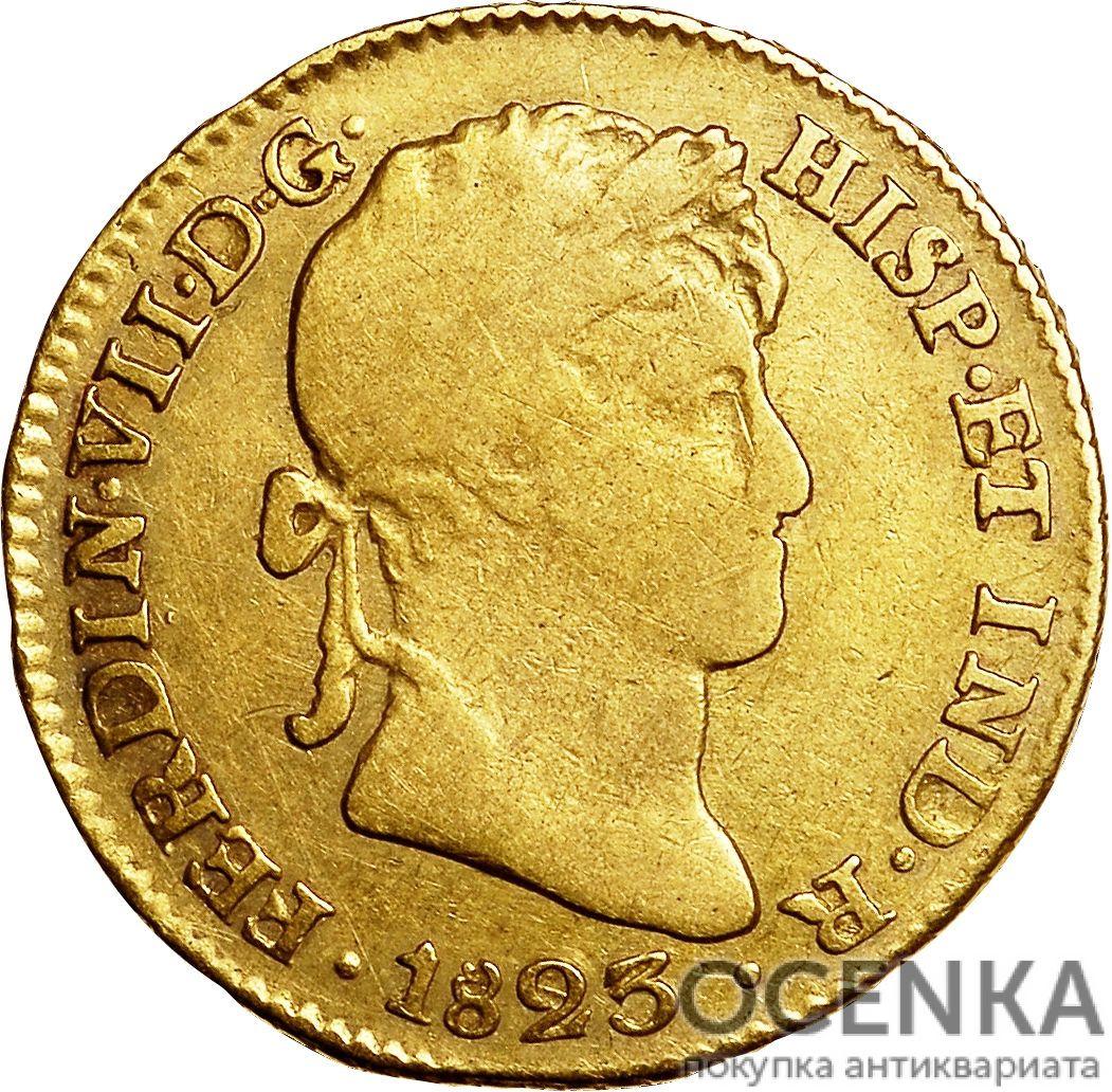 Золотая монета 1 эскудо (1 Escudo) Боливия - 3