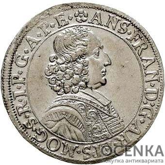 Серебряная монета 60 Крейцеров (60 Kreuzer) Германия - 5