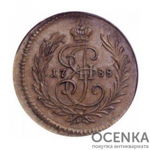 Медная монета Полушка Екатерины 2 - 1