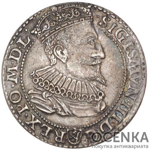 Серебряная монета Грош Средневековой Польши - 1
