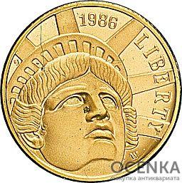Золотая монета 5 Dollars (5 долларов) США - 11