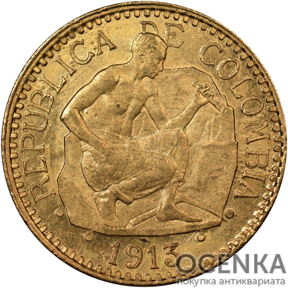 Золотая монета 2½ Песо (2½ Pesos) Колумбия - 1