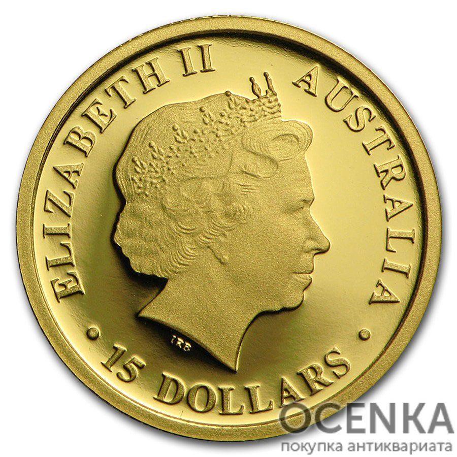 Золотая монета 15 долларов 2016 год. Австралия. Коала - 1