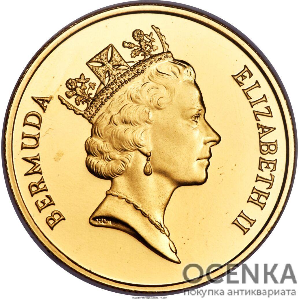 Золотая монета 100 долларов Бермудских островов - 1