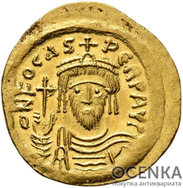 Золотой солид Византии, Флавий Фока Август, 602-610 год
