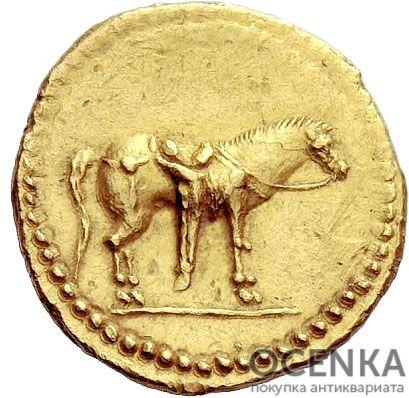 Золотой ауреус, Квинт Лабиен, 40-39 год до н.э. - 1