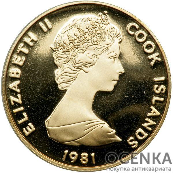 Золотая монета 50 Долларов Островов Кука - 3