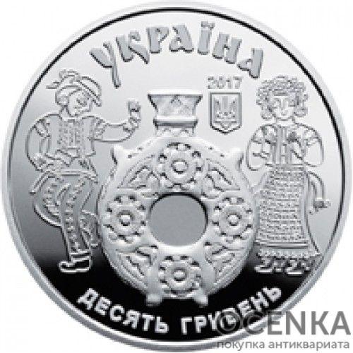5 гривен 2017 год Косовская роспись - 1