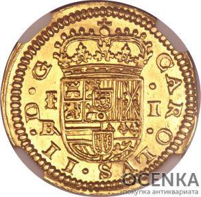 Золотая монета 1 Эскудо (1 Escudo) Испания - 3