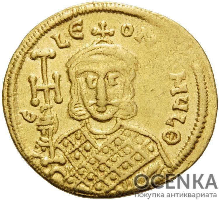 Золотой солид Византии, Лев IV Хазар, 775-780 год - 1