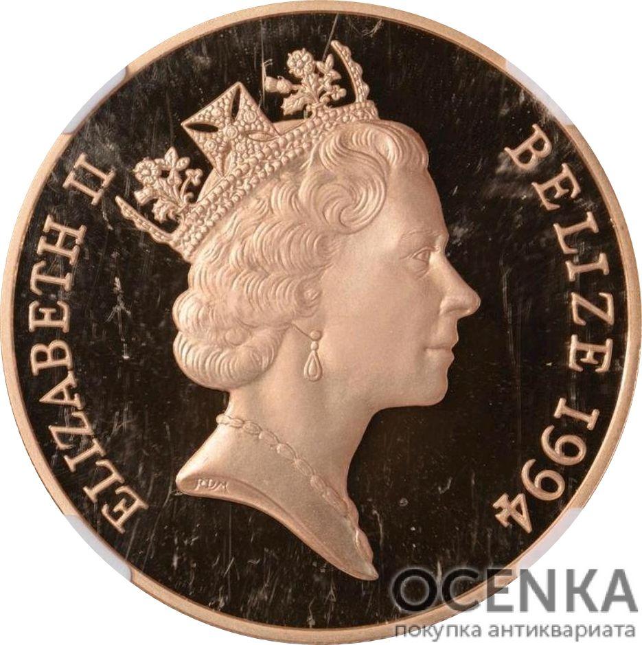 Золотая монета 500 долларов Белиза - 5