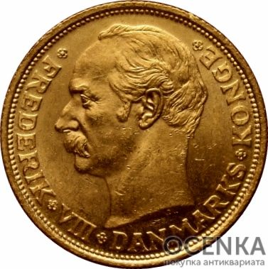 Золотая монета 20 Крон (20 Kroner) Дания - 3