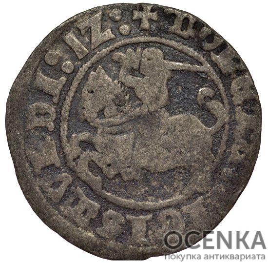 Серебряная монета Полугрош Средневековой Литвы - 4