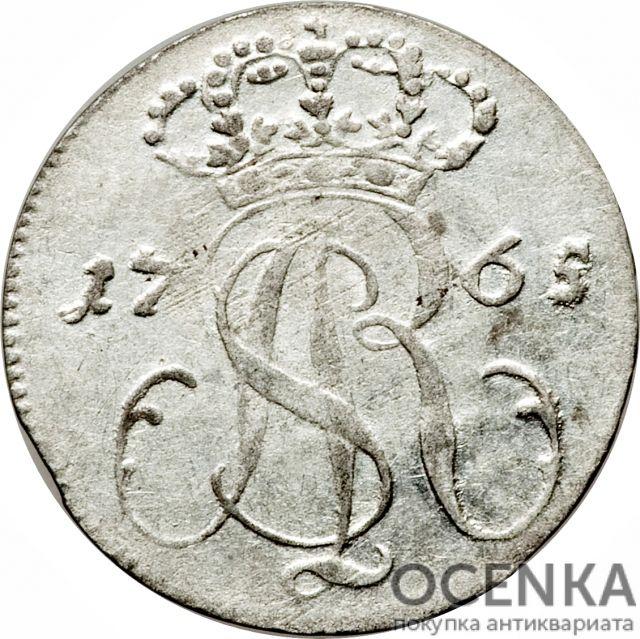 Серебряная монета Трояк (3 гроша) Средневековой Польши