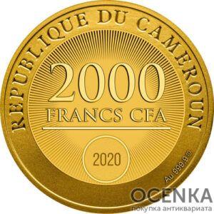 Золотая монета 2000 Франков (2000 Francs) Камеруна