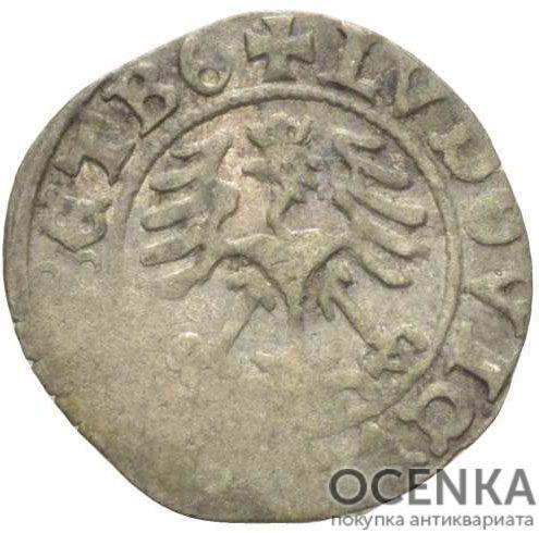Серебряная монета Полугрош Средневековой Литвы - 2
