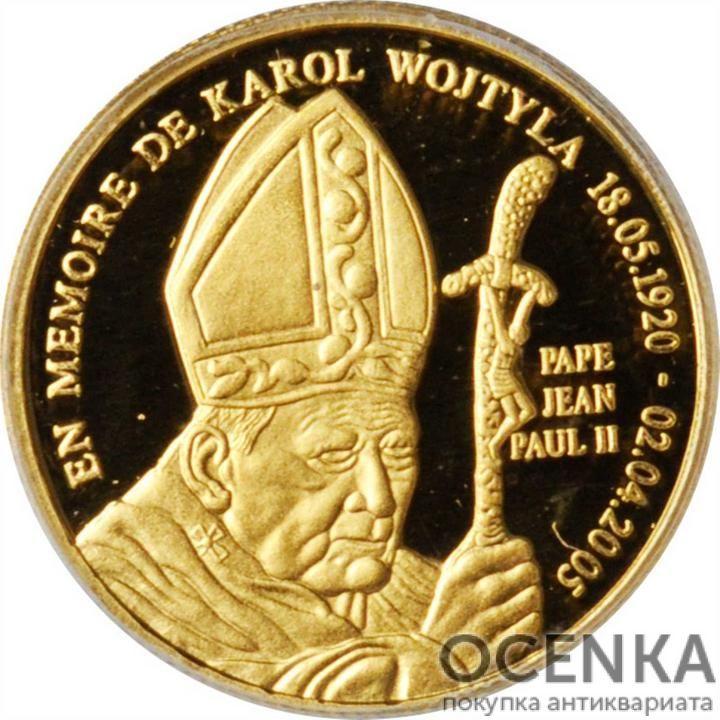 Золотая монета 20 Франков (20 Francs) Конго - 5