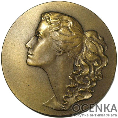Памятная настольная медаль Майя Плисецкая. Народная артистка СССР - 1